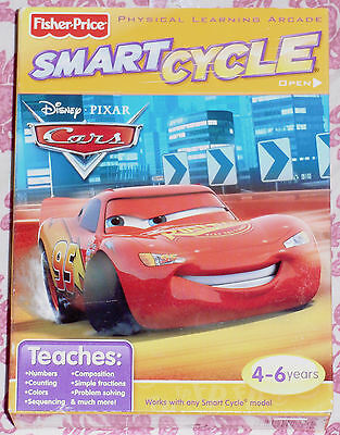 "Fisher-Price Smart Cycle Game ""disney Pixar Cars"" New"