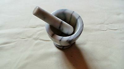 Grey Marble Pestle And Mortar