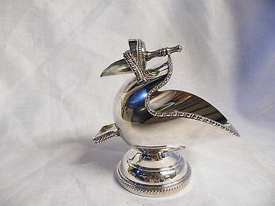 Beautiful Vintage Silver Plated Hand Engraved Sugar Scuttle And Scoop