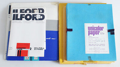 Darkroom Photographic Paper Lot Of Mixed Sizes And Types
