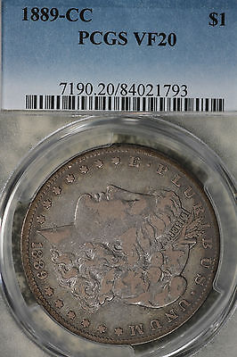 Semi-Key Date 1889-CC Morgan Dollar - PCGS VF20