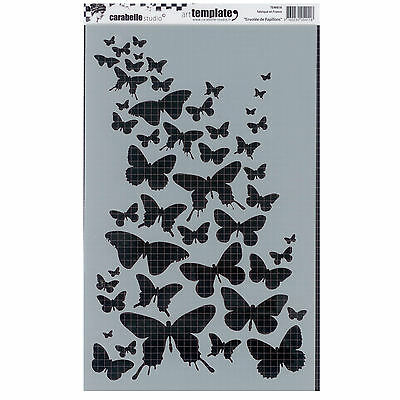 Carabelle Studio Art Stencil 17.5x28cm - Flight of Butterflies