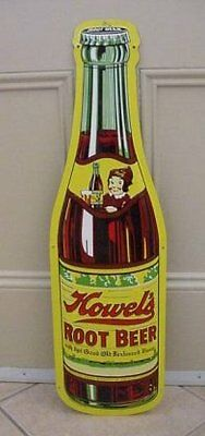 30 inches High Howels Root Beer Bottle Sign