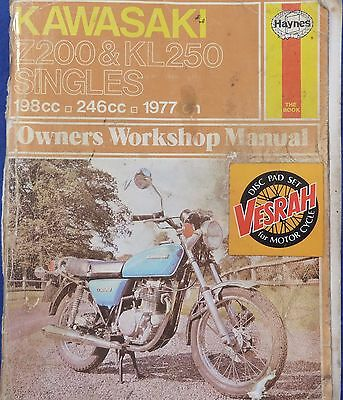 Kawasaki Z200 And KL250 Haynes Workshop Manual