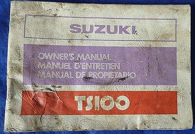Suzuki TS100 Owners Hand Book The One That Lives Under Your Bike Seat Used