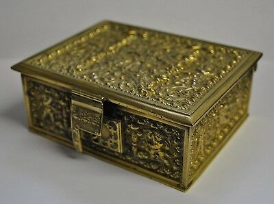 Gilt Brass Box Erhard & Sohne Ormolu  Made in Germany c. 1900s Cast and Chased