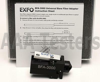 EXFO BFA-3000 Universal Bare Fiber Adapter SM MM Connector BFA3000 BFA 3000