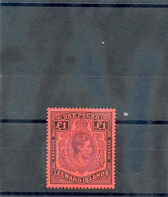 LEEWARD IS  Sc 115a(SG 114)*F-VF LIGHT HR 1938 1PD, PERF 14, CHALKY PAPER, $700