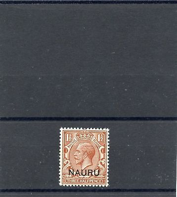 NAURU Sc 3 (SG 3)**VF NH, 1923 11/2A RED BROWN, $220