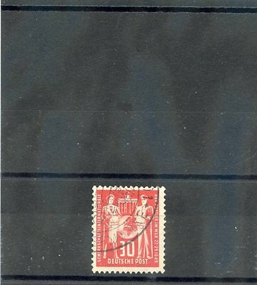 GERMANY(DDR)Sc 50(MI 244b)F-VF USED 1949 30pf GRAY RED $2500