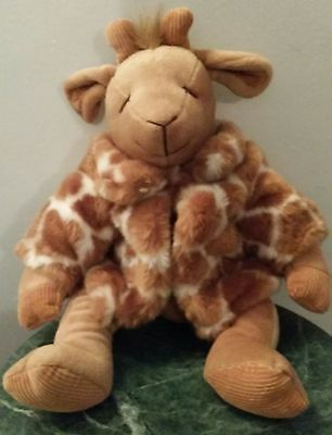 "Russ ""Gisella"" Retired Brown Sitting Giraffe 16"" Plush Animal Doll Coat Soft Toy"