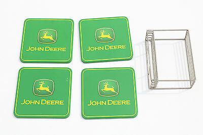 John Deere Square Coasters - Set of 4 with holder
