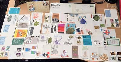 FIRST DAY COVERs -Lot of 46 -  Commonwealth, Railways European Churchill