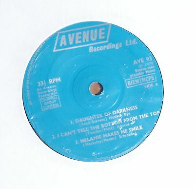 """'Daughter of Darkness' UNKNOWN ARTIST 7"""" 7 inch vinyl single EP Avenue AVE 93"""