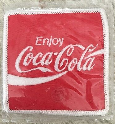 "NEW Vintage 3"" x 3"" Enjoy Coca Cola R Embroidered Patch Coke Soda Pop Uniform"