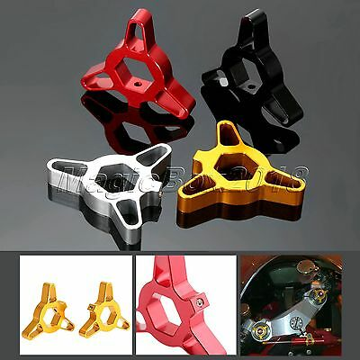 1Pair Motorcycle CNC Front Hexagon Anodized Fork Preload Adjusters 14/17/19/22mm