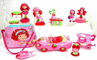 Lot Of Strawberry Shortcake Doll Figure And Accessories + Furnitures + Car
