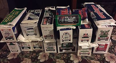 Lot Of Hess Trucks In Original Boxes With Original Bags