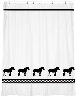 Belgian Horse Shower Curtain *Our Original* Choice of colors