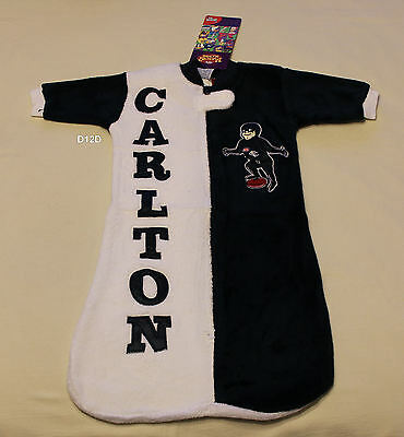 Carlton Blues AFL Boys Infants Fleece Sleeping Bag Sleep Sack Size 1 New