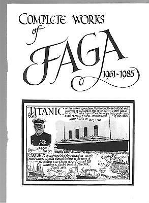 FAGA- THE COMPLETE WORKS 84pp with 104 ILLUSTRATIONS + FREE 'FAGA' POSTCARD