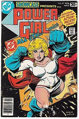 SHOWCASE #97 (VG/FN) 1st Solo POWER GIRL! Classic Bronze-Age Issue! 1978 DC JSA