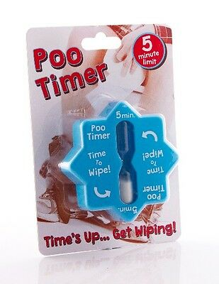 Poo Timer ~ Times Up Get Wiping ~ 5 Minute Limit