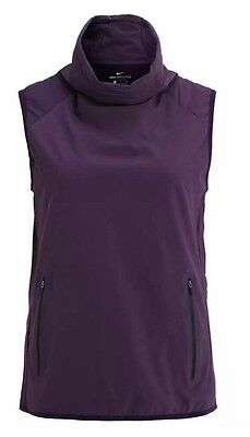 Nike Women's AeroLayer Vest Purple 809260-451 Size S