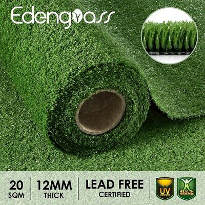 2Mx10M 10mm Artificial Grass Synthetic Turf Fake Flooring Lawn Carpet Plant