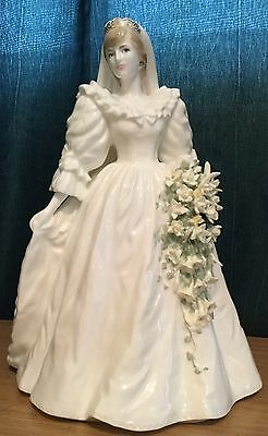 Coalport Royal Bride Diana Princess Of Wales Limited Edition Figurine