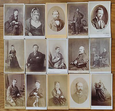 CDV photographs x 30- Portraits by various studios from Scotland