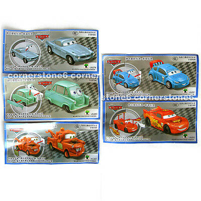 ~ KINDER Joy surprise egg toy - DISNEY CARS - 5 cars set - w/ China BPZ