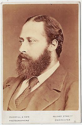 Royal cabinet photograph-EDWARD, PRINCE OF WALES by RUSSELL OF CHICHESTER