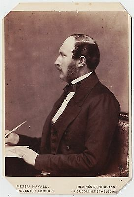 Royal cabinet photograph-PRINCE ALBERT by Mayall of LONDON AND MELBOURNE