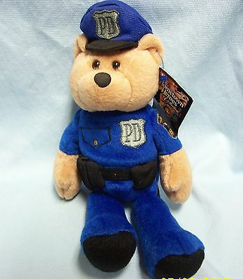"Limited Treasures 9"" Police Officer Plush Collectible Stuffed Hero Bear - Valor"