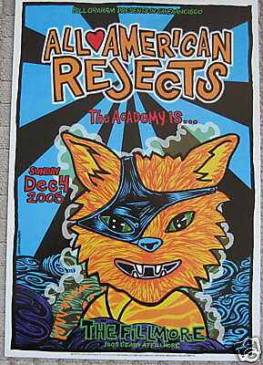 ALL AMERICAN REJECTS FILLMORE POSTER The ACADEMY Original F739 MINT John Howard