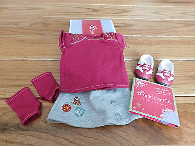 American Girl Myag Fresh And Fun Outfit + Charm  New In Box Retired
