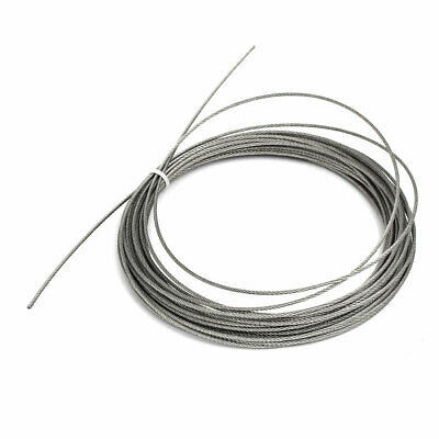 10M Length 1.5mm Dia 304 Stainless Steel Flexible Steel Wire Cable