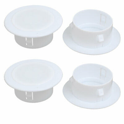 uxcell 34mm Inner Dia Plastic Detachable Air Conditioning Wall Hole Cover White 2pcs