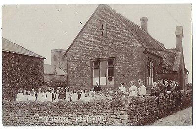 MOSTERTON The School, Dorset, RP Postcard by FG Christopher, Unused