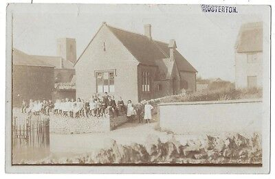 MOSTERTON The School, Dorset, RP Postcard by JH Mitchem, Unused