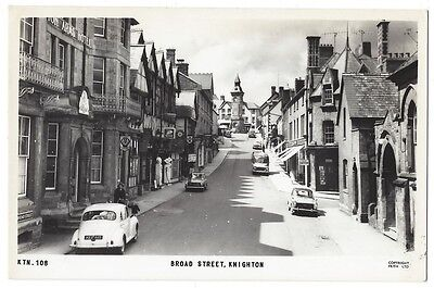 KNIGHTON Broad Street, Radnorshire, RP Postcard by Frith Unused