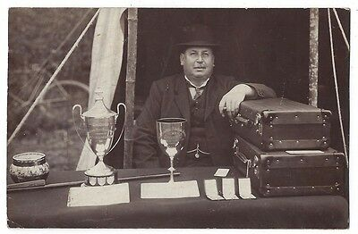 SOCIAL HISTORY Ernest Percival, Preacher at a Ploughing Match c1920s RP Postcard