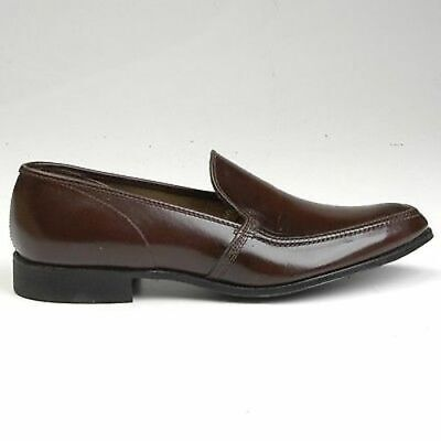 e0bb65fbe4a1dd 7 Mens Vintage 1960s 60s Brown Leather Slip On Loafer Sleek Shoes NOS  Deadstock
