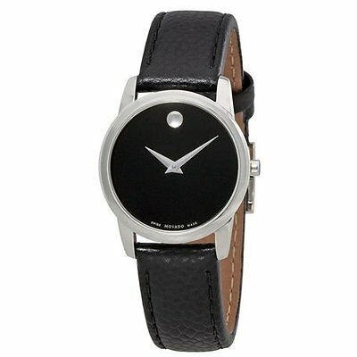 Movado Women's Swiss Made Watch - Black Band with Black Dial
