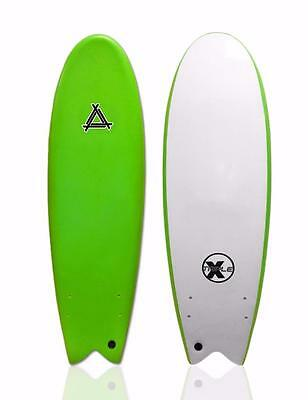 "Triple X 5'10"" Soft Top Fishboard Surfboard/Beginner/Kid's Surfboard/Green"