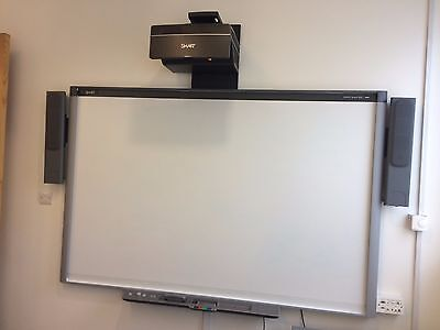 "Smartboard SBB885 87"" Inch Interactive Whiteboard with UX80 Projector + Speakers"