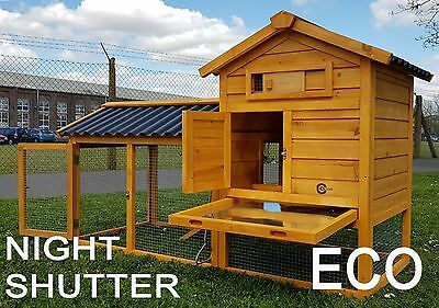 Cocoon Large Rabbit Hutch Guinea Pig Ferret & Secure Night Shutter & Eco Roofs
