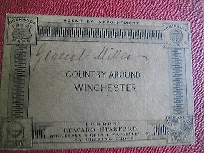 Hampshire-Winchester-Stanford's Bespoke Antique Os Map-1884- For General Miller