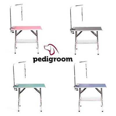 Pedigroom grand acier inox mobile portable chien chat animaux soins table bras